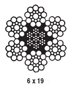 6X19 Fiber Core