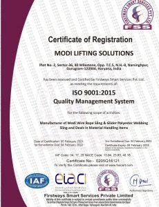 MODI LIFTING SOLUTIONS_ISO 9001